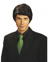 Perruque noire homme