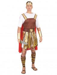 Déguisement gladiateur romain cape rouge homme