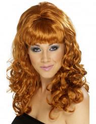 Longue perruque cuivréefemme