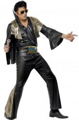 Déguisement Elvis Presley™noir et doré homme