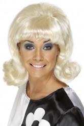 Perruque blonde années 60 femme