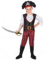 Déguisement pirate effet satiné garçon