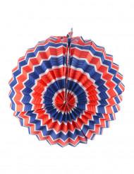 12 lanternes rondes tricolores bleu blanc et rouge 22 cm