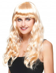 Perruque blonde dorée longue femme