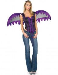Déguisement ange violet gothique femme
