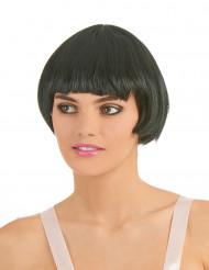 Perruque charleston noire à frange femme