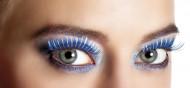 Faux cils bleus et argentés