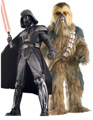 Déguisement couple collector Dark Vador™ et Chewbacca™ Star Wars™