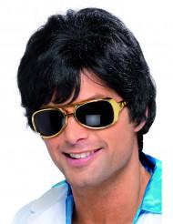 Perruque disco années 70 noire homme