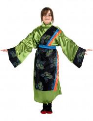 Déguisement japonaise verte fille