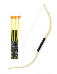 Arc avec 3 flèches enfant en plastique