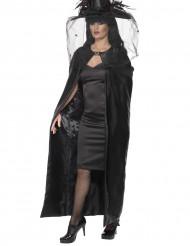 Cape sorcière noire adulte