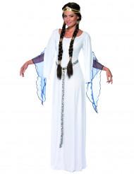 Déguisement reine médiévale blanche femme