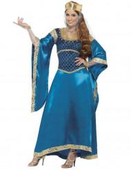 Déguisement reine médiévale femme luxe