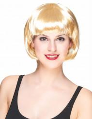 Perruque courte blonde femme