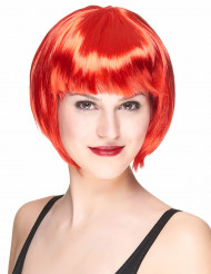 Perruque courte rouge femme