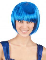 Perruque courte bleue femme