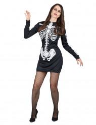 Déguisement squelette femme Halloween