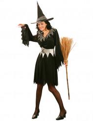 Déguisement sorcière noire avec ceinture femme