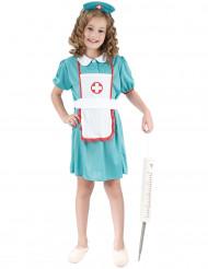 Déguisement infirmière vert fille