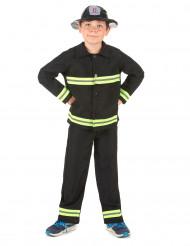 Déguisement pompier jaune et noir garçon