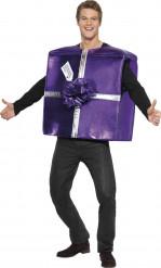 Déguisement cadeau violet adulte