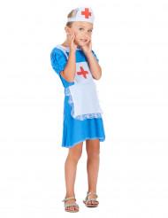 Déguisement infirmière bleu fille