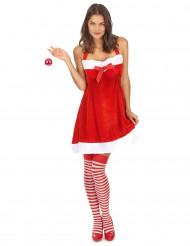 Déguisement Mère Noël sexy dos nu femme