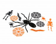 Kit de décorations araignées et squelettes
