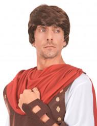 Perruque châtain de romain homme