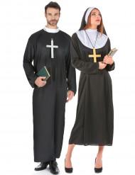 Déguisement de couple de religieux
