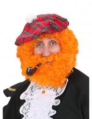 Perruque écossais orange homme