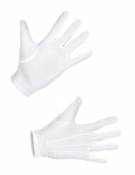 Gants courts blancs adulte