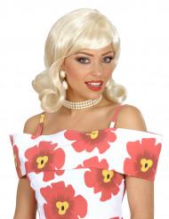 Perruque blonde année 50