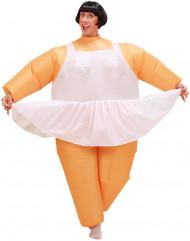 Déguisement humoristique ballerine gonflable adulte