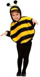 Poncho abeille fille
