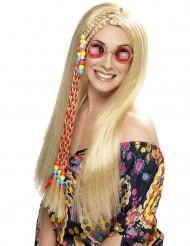 Perruque hippie blonde à tresses femme