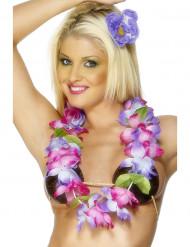 Collier rose et violet  Hawaï