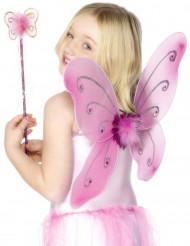 Kit papillon rose fille