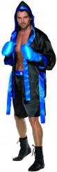 Déguisement boxeur homme noir et bleu