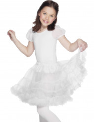 Jupon transparent blanc fille