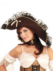 Chapeau Pirate femme marron
