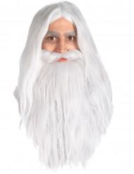 Perruque et barbe Gandalf Seigneur des Anneaux™ homme