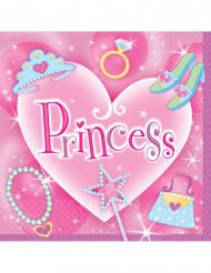 16 Serviettes en papier Princess 33 x 33 cm