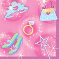 16 Petites Serviettes en papier Princesses 25 x 25 cm
