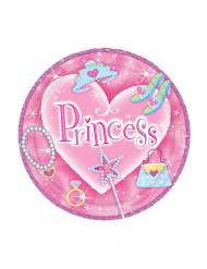 8 Assiettes à dessert princesse
