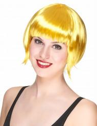 Perruque courte jaune femme
