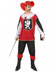 Déguisement mousquetaire rouge et blanc homme