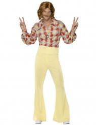 Déguisement disco années 70 jaune homme