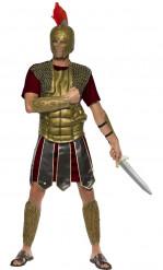Déguisement gladiateur faux cuirs dorés homme